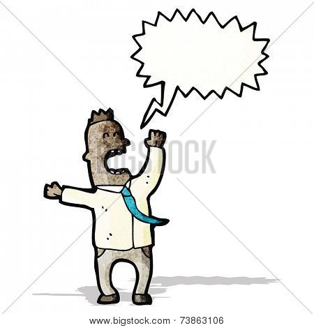 cartoon shouting man