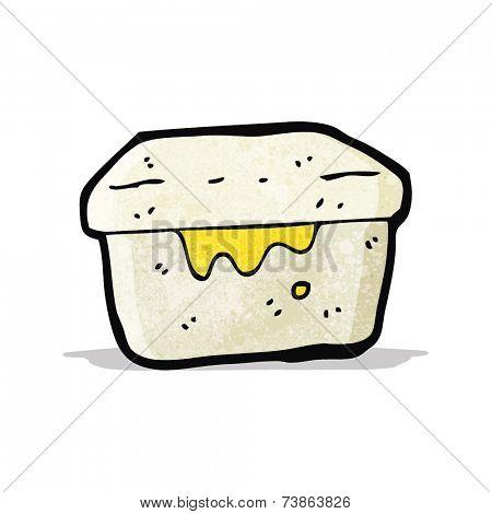 cartoon old lunch box