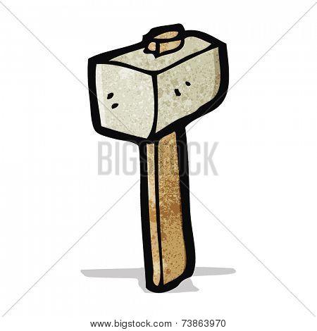 cartoon stone mallet