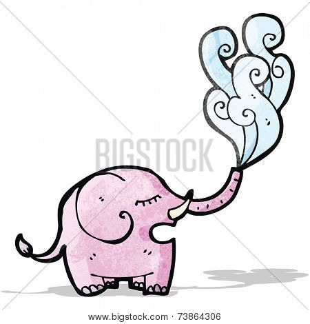 cartoon elephant squirting