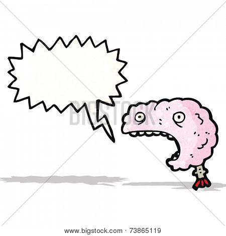 shouting brain cartoon
