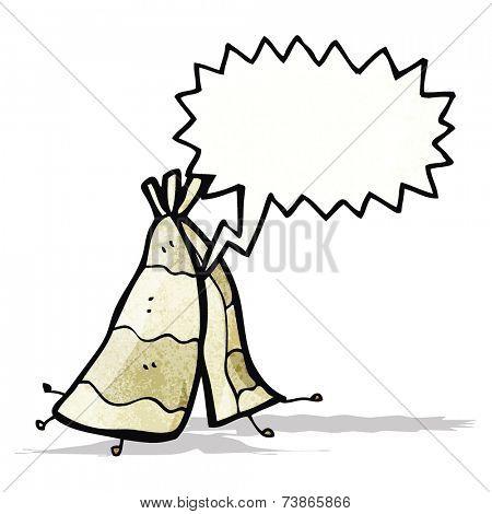 cartoon tepee tent