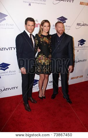 LOS ANGELES - OCT 14:  James Marsden, Michelle Monaghan, Ryan Kavanaugh at the Fulfillment Fund Stars Benefit Gala 2014 at Beverly Hilton Hotel on October 14, 2014 in Beverly Hills, CA