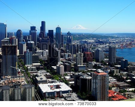 Downtown Seattle Aerial View