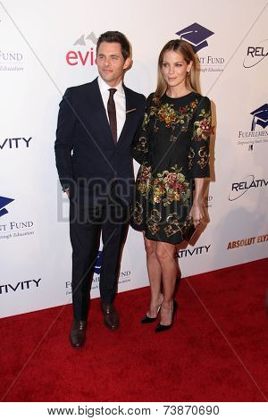 LOS ANGELES - OCT 14:  James Marsden, Michelle Monaghan at the Fulfillment Fund Stars Benefit Gala 2014 at Beverly Hilton Hotel on October 14, 2014 in Beverly Hills, CA