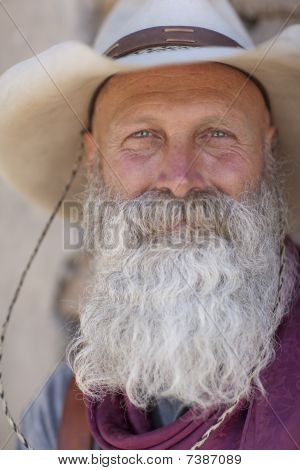 Cowboy With A Long White Beard