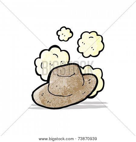 cartoon old wild west hat