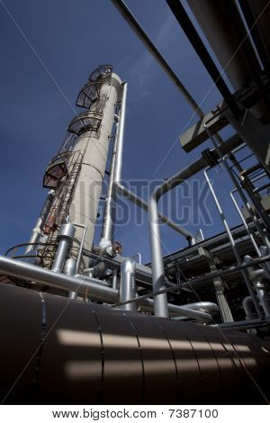 Gas Compressor Plant Tower And Piping
