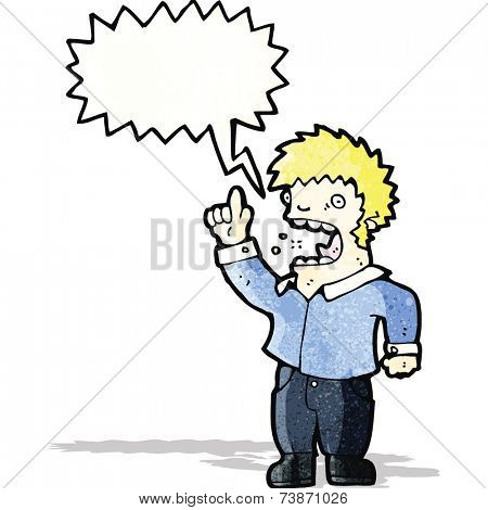 shouting man cartoon