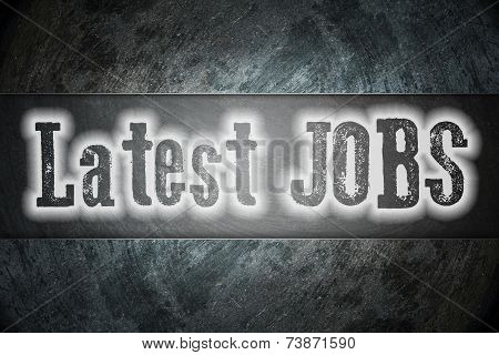 Latest Jobs Concept