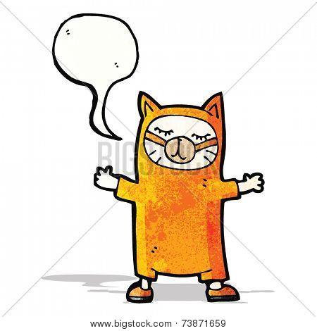 cartoon cat costume
