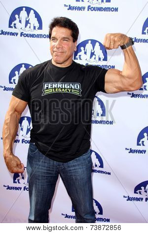 LOS ANGELES - OCT 14:  Lou Ferrigno at the Jeffrey Foundation Building Renaming Celebration at Jeffrey Foundation Main Building on October 14, 2014 in Los Angeles, CA