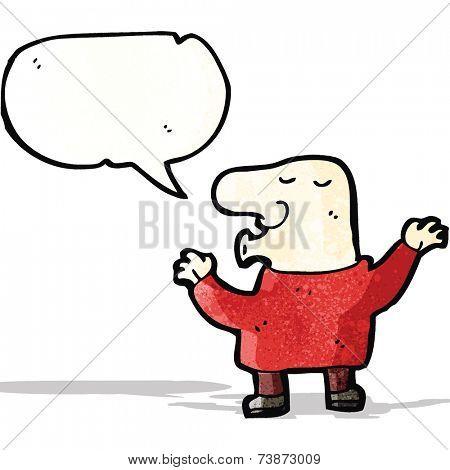 cartoon nosy man