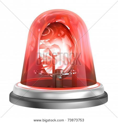 Emergency Light isolated on a white background