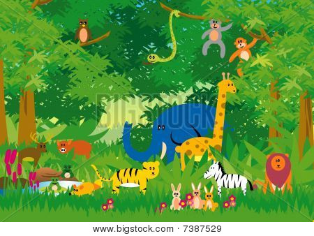 Jungle in Cartoon