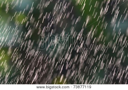 Abstract textured white bar rain on a Nature background