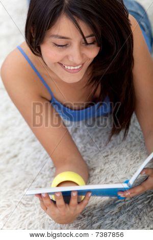Beautiful Woman Studying