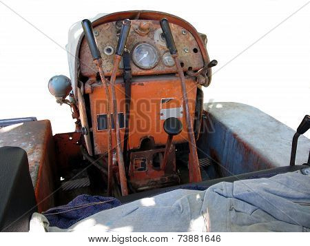 Dashboard Old Italian Crawler Tractor