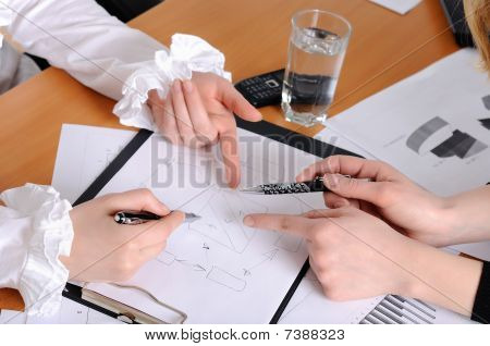Hands Of Business Women