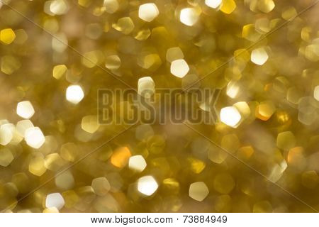 Blurred Gold Sparkle