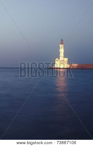 Crete ,panorama with light house