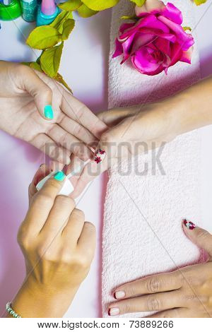 Paint Nails In Beauty Salon