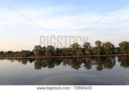 Landscape Of Volga Riverbank