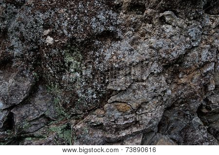 Surface Dark Gray Rough Stone