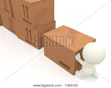 3D Person Moving Boxes Around