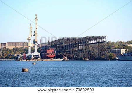 Old industrial shipyard