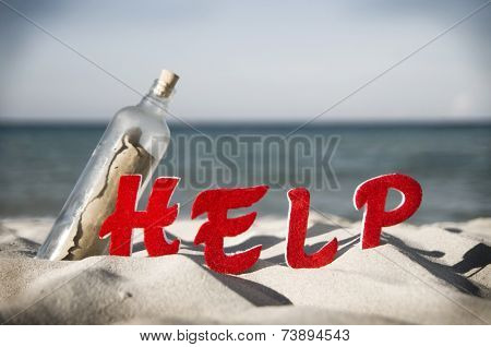 Message in a bottle searching for help.