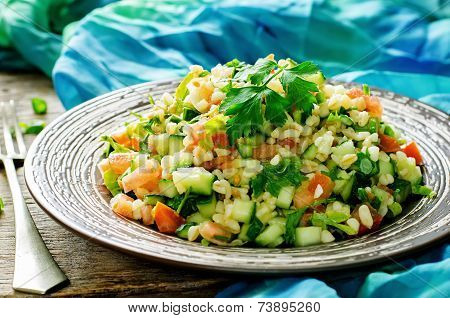 Salad With Bulgur And Vegetables, Tabbouleh