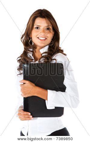 Business Woman With A Portfolio