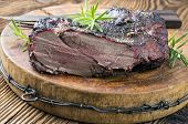 foto of deer meat  - venison roast - JPG