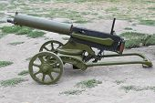 picture of maxim  - WWI Maxim machine gun isolated on white background - JPG