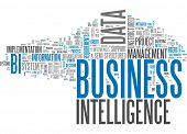 pic of benchmarking  - Word Cloud with Business Intelligence related tags - JPG