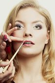 image of makeover  - Cosmetic beauty procedures and makeover concept - JPG