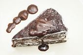 pic of crepes  - chocolate crepe cake in the cafe homemade - JPG