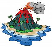picture of magma  - Volcano Editable  - JPG