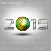 Постер, плакат: World Globe New Year 2015