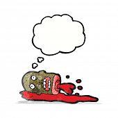pic of gross  - cartoon gross severed head - JPG