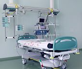 picture of ward  - Hospital ward equipped with the  medical devises - JPG