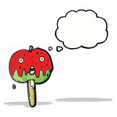 stock photo of toffee  - cartoon toffee apple - JPG