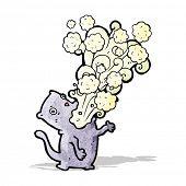 picture of belching  - burping cat cartoon - JPG