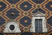 stock photo of hospice  - Polychrome roof of the Hospices de Beaune - JPG