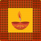 stock photo of diya  - Vector colorful diwali diya illustration  - JPG