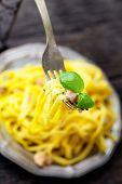 foto of carbonara  - Italian cooking - JPG