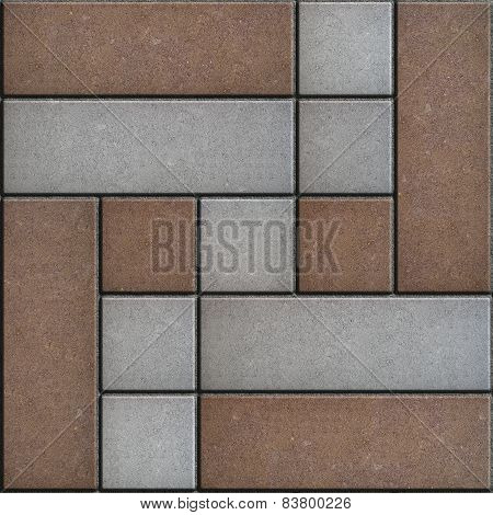 Decorative Slabs Paving. Seamless Texture.