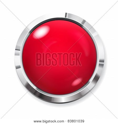 Big Red Round Button