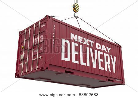 Next Day Delivery - Brown Hanging Cargo Container.